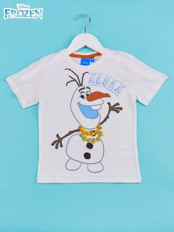 Biały t-shirt chłopięcy KRAINA LODU
