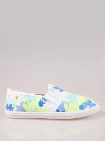 Kwiatowe buty slip-on
