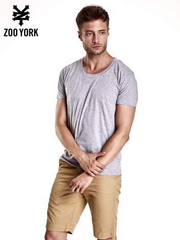 Szary melanżowy t-shirt męski basic