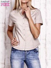 Beżowa koszula z krótkim rękawem
