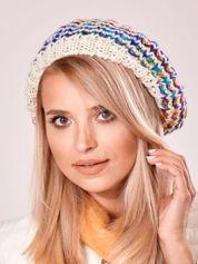 Beżowa melanżowa czapka