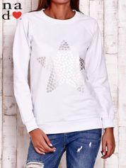 Biała bluza z gwiazdą