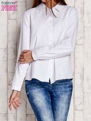 Biała koszula motyw gwiazdek
