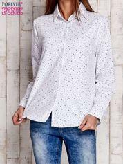 Biała koszula w drobne gwiazdki