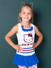 Biała tunika dla dziewczynki HELLO KITTY
