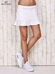 Białe spodenki spódniczka tenisowa z falbanką