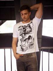 Biały t-shirt męski STAR WARS