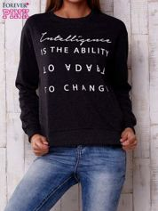 Ciemnoszara bluza z napisem