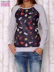 Czarna bluza z motywami komiksowymi