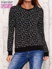 Czarna bluza z nadrukiem kotów