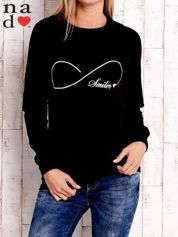 Czarna bluza z napisem SMILER