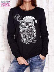 Czarna bluza ze zwierzęcym nadrukiem