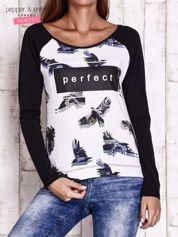 Czarna bluzka z napisem PERFECT