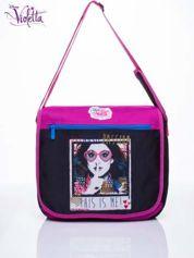 Czarna torba szkolna na rzep DISNEY Violetta