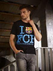 Czarny t-shirt męski FC BARCELONA