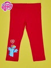 Czerwone legginsy dla dziewczynki z nadrukiem MY LITTLE PONY