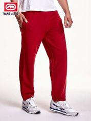 Czerwone spodnie dresowe męskie z suwakami na nogawkach