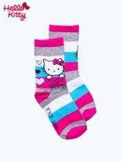 Fuksjowe skarpetki dla dziewczynki HELLO KITTY