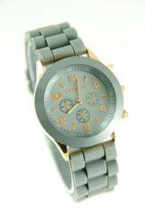GENEVA Szary zegarek damski na silikonowym pasku