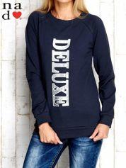 Grafitowa bluza z napisem DELUXE