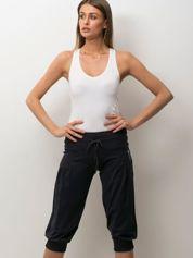 Butik Grafitowe spodnie capri z wiązaniem