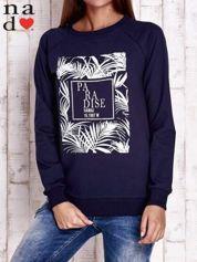Granatowa bluza z napisem PARADISE
