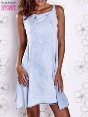 Jasnoniebieska rozkloszowana dekatyzowana sukienka
