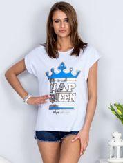 Jasnoniebieski t-shirt NAP QUEEN