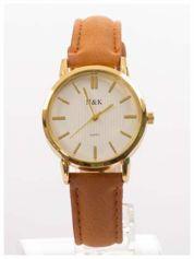 Klasyczny damski zegarek na welurowym pasku Bardzo zgrabny. Delikatny i kobiecy.