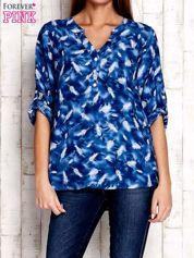 Niebieska koszula w piórka