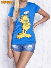Niebieski t-shirt GARFIELD