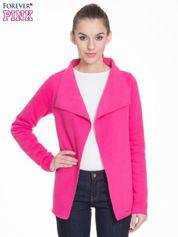 Różowa bluzonarzutka z klapami o kroju oversize