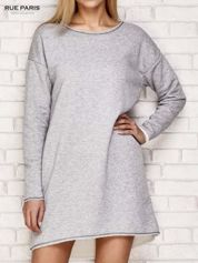 Szara dresowa sukienka z luźnymi rękawami