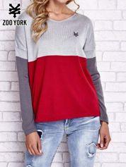 Butik Szary sweter z trójkątnym dekoltem