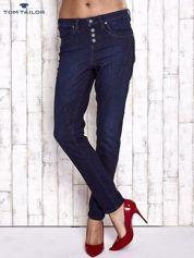 TOM TAILOR Ciemnoniebieskie modułowe spodnie jeansowe