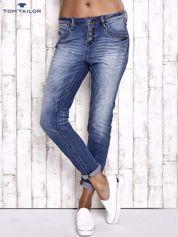 TOM TAILOR Niebieskie modułowe spodnie jeansowe