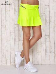 Zielone spodenki spódniczka tenisowa z szarymi wstawkami