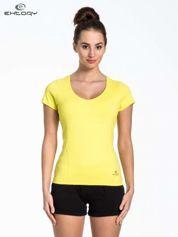 Żółty t-shirt sportowy basic