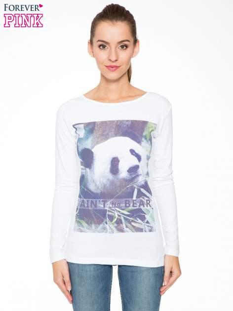 Biała bluzka z nadrukiem pandy