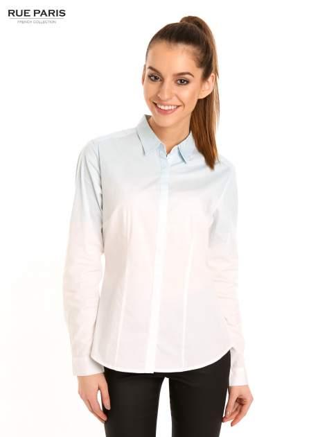 Biała koszula z efektem ombre