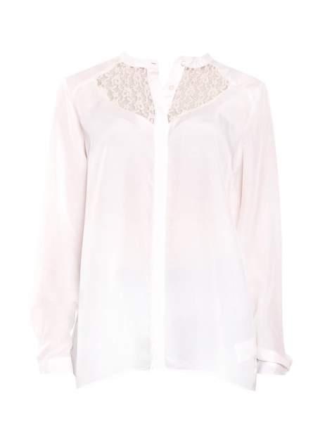 Biała koszula z koronkowym żabotem w stylu wiktoriańskim