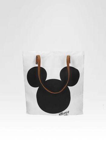 Biała torba shopper bag z motywem Mickey Mouse