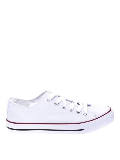 Białe niskie trampki damskie