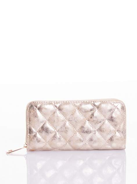 Ciemnoszary pikowany portfel