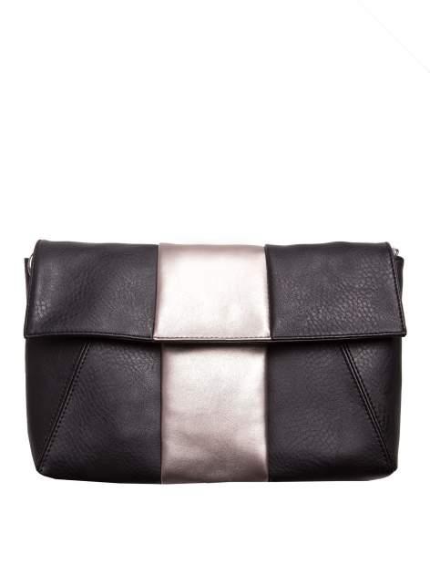Czarna geometryczna torebka w stylu glamour