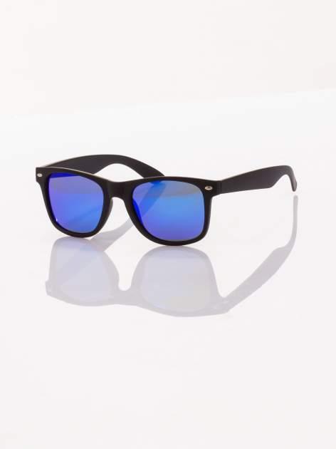 Czarne okulary przeciwsłoneczne z POLARYZACJĄ typu WAYFARER
