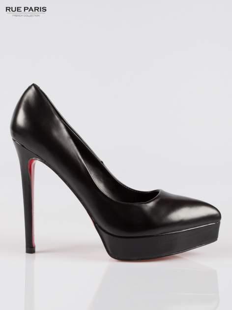 Czarne szpilki high heels na platformie
