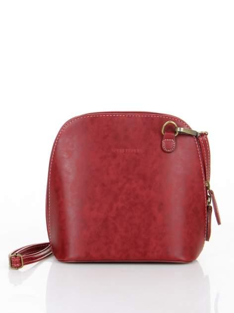 Czerwona elegancka listonoszka z odpinanaym paskiem