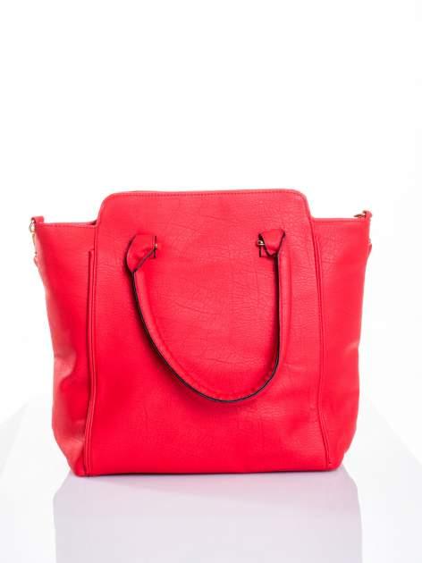 Czerwona torba shopper bag