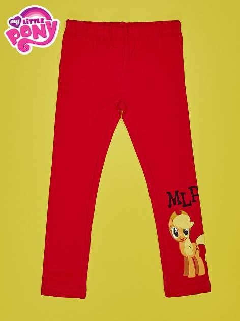 Czerwone legginsy dla dziewczynki motyw MY LITTLE PONY